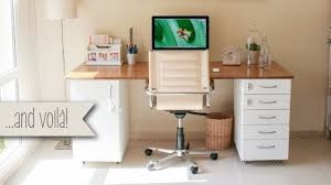 kitchen office furniture this diy office desk is sturdy built from ikea kitchen parts