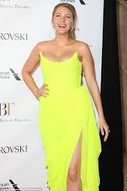 blake lively in yellow gown at american ballet gala in nyc daily