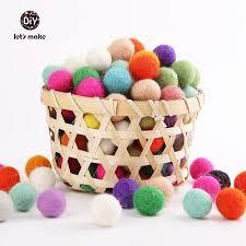 let s make 2cm wool felt 120 multicolour felt balls wool