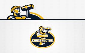 premade constructor handyman logo for sale lobotz