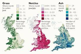 Exeter England Map by Pollen Maps Will Give Relief From Hay Fever News The Times