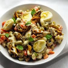cuisiner moule moules de bouchot en salade russe la moule de bouchot