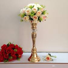 height 48cm 18 9 gold table flower vases golden table centerpiece