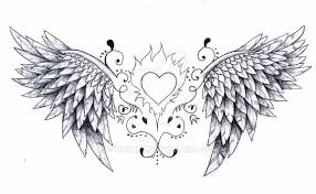 angel wings tattoo design by born2art on deviantart