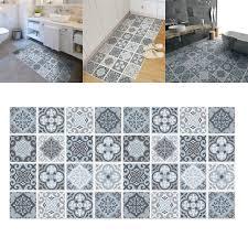 grey mosaic tile floor stickers transfers kitchen bathroom home