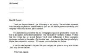 Formal Letter Asking Information letter requesting information from client sles business letters