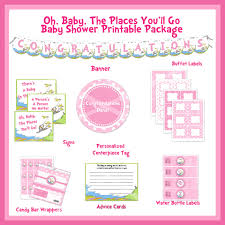 seuss oh baby the places youll go pink printable baby shower