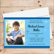 Invitation Card For Holy Communion 10 Personalised Boys 1st First Holy Communion Photo Invitations N21