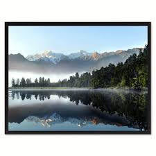new zealand landscape photo wall art home decor frame spotcolorart lake matheson new zealand landscape photo canvas print pictures frames home decor wall art gifts