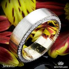 just men rings simon g mr2273 men s wedding ring whiteflash 4105