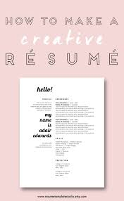 Cool Resume Ideas 77 Best Resume Images On Pinterest