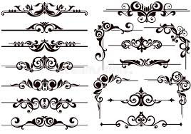 vector ornaments frames corners borders stock vector image