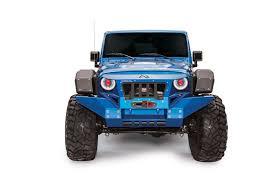 jeep matte blue front fender system fab fours