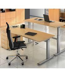bureau à hauteur variable bureau réglable par manivelle 120 cm célyatis
