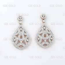 heavy diamond earrings heavy beautiful diamond dangler earring jewels of jaipur