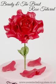 beauty and the beast rose tutorial sweetie darling cakessweetie