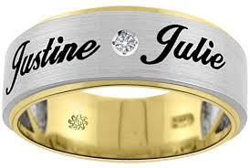 wedding rings with names 15 name engraved ring designs that are for wedding season