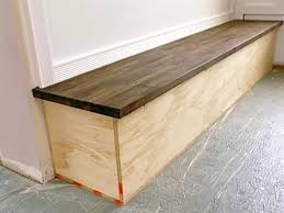 built in bench with butcher block top hgtv