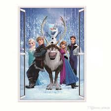 queen elsa deer prince frozen 3d wall stickers olaf decorative 10