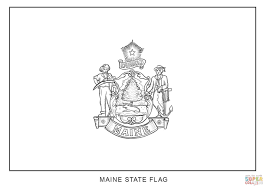 blank flag coloring page maine state flag inside coloring page omeletta me