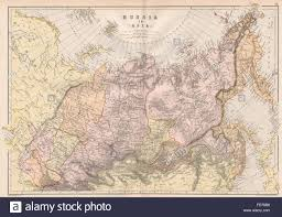 Central Asia Map by Russia In Asia Siberia Scale In Versts Central Asia Blackie