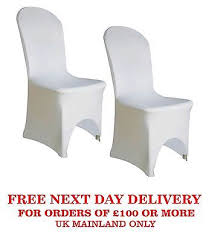 wedding arch ebay uk 50 100 white chair cover elasticated lycra decor wedding arch