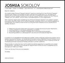 how to write resume for physical therapist cover letter email