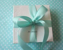 robin egg blue gift boxes ribbon etsy