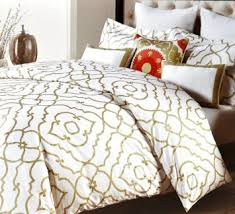 White And Gold Bedding Sets Nicole Miller Gold Lattice Queen Duvet Cover Set On The Hunt