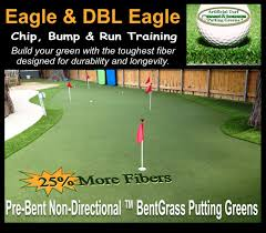 the bentgrass outdoor putting green system