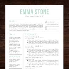 simple resume template word resume template professional creative resume instant cv