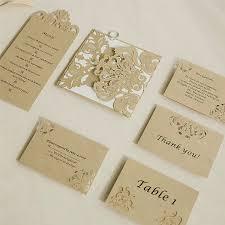 enclosure cards modern bronze laser cut pocket invitations with matching enclosure