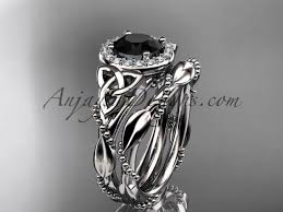 celtic wedding ring sets black diamond celtic bridal sets