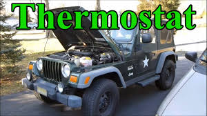 jeep wrangler 2012 change how to change the thermostat in a jeep wrangler