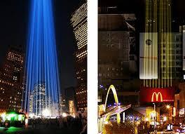 9 11 Memorial Lights Is Mcd U0027s U0027fry Lights U0027 Billboard Copying The U0027tribute In Lights U0027 9