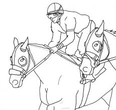 horse racing coloring pages contegri com
