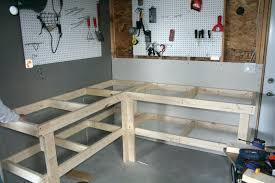 Work Bench With Storage Garage Best Mobile Workbench Garage Workbench With Shelves