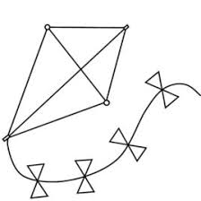 simple kite coloring kids drawing coloring pages marisa
