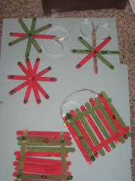 simple popsicle stick christmas ornament craft by stephanie