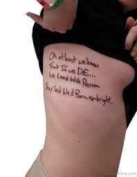 72 wording tattoos for thigh