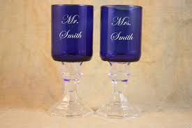 wedding goblets wine goblets set of 2 blue wedding goblets wedding toast