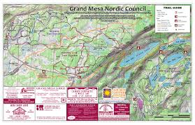Grand Junction Colorado Map by Grand Mesa Nordic Council Trails