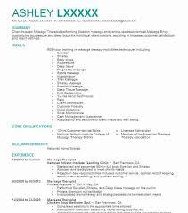 resume examples for massage therapist massage therapist resume
