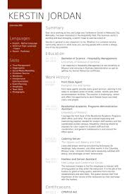 hospitality resume samples front desk best resumes curiculum