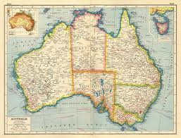 atlas map of australia australia railways steamship routes telegraph cables rainfall
