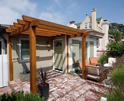 front yard patio exterior beach style with small scale round