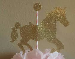 Carousel Horse Centerpiece by Princess Party Centerpieces Princess Baby Shower Centerpiece