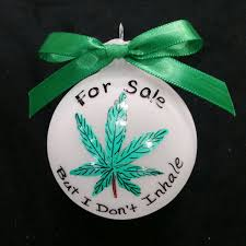 custom personalized ornament marijuana ornament
