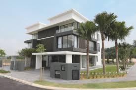 semi detached house exterior design in malaysia front design