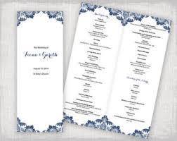 Wedding Program Catholic Diy Catholic Wedding Program Template Charcoal Gray